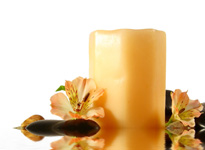 Spa Candle Flower